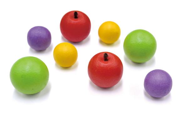 かわいいりんごの玉の拡大