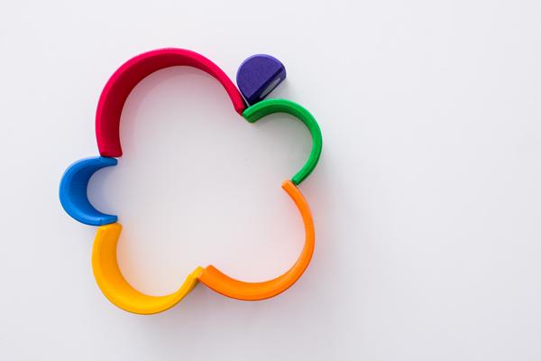 虹色トンネル小で平面遊び拡大