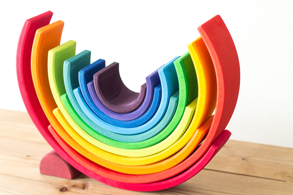 虹色トンネル大で造形拡大