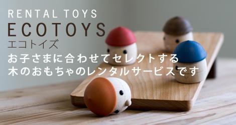 木のおもちゃのレンタル「ECOTOYS」