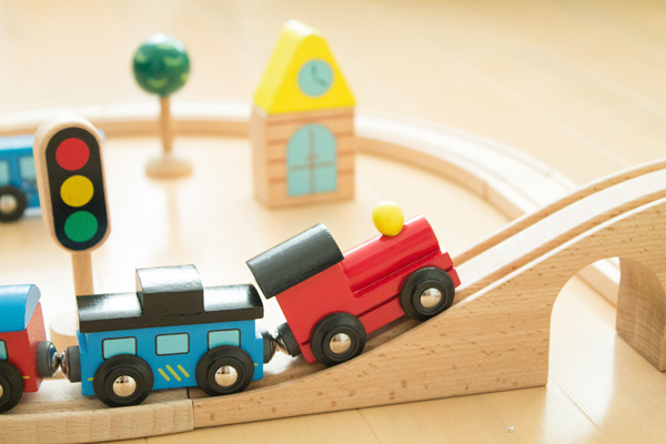 鉄橋を渡る汽車