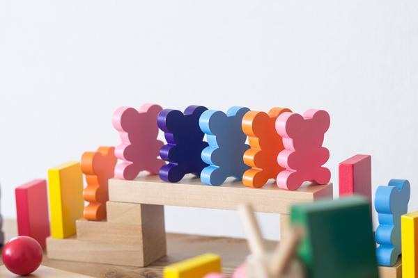 熊の形のドミノパーツ