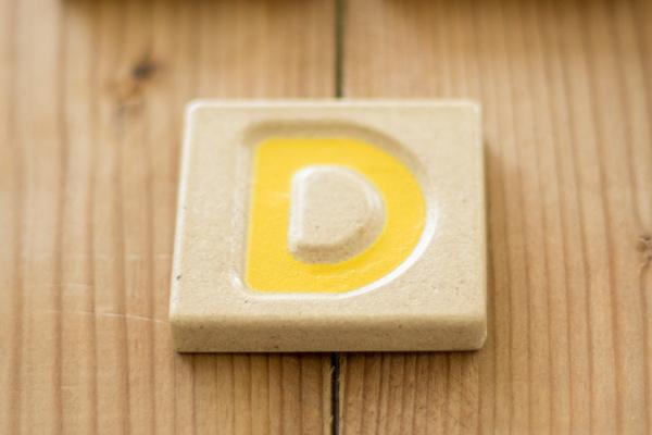 アルファベット「D」タイル