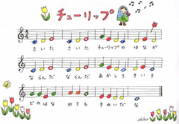 楽譜チューリップ