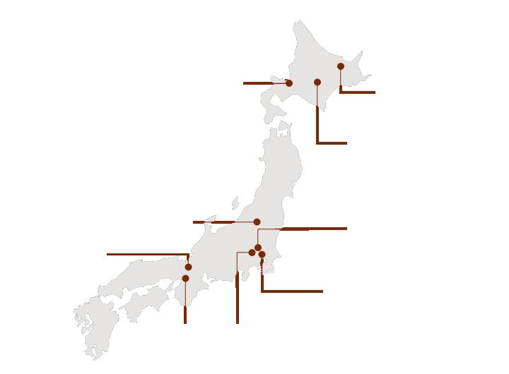 日本製ブランドMAP