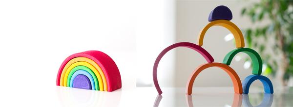 虹色トンネル(小)積み木