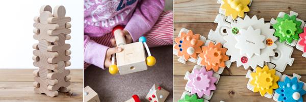 積む組む木のおもちゃ例